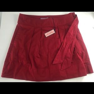 Vineyard Vines Red Pleated Skirt with Pockets NWT
